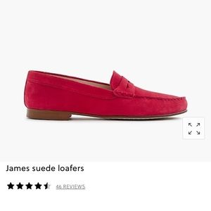 NWOT J. Crew James suede loafers